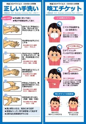 手洗い咳エチケット